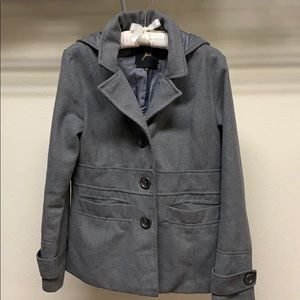 Gray Full Lined Jacket Coat with Hood by Jack